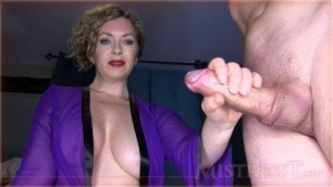 Mistress T - ruined orgasm for premature ejaculator