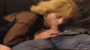 Kitty Foxx mature woman caresses her pussy and his cock