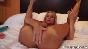 Naughty Alysha Mature Tits Holes Wlde Open