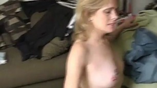 Blonde mature is cheating on her husband with a younger guy because she is super horny kiss my dixk