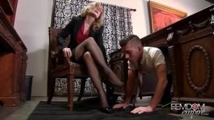 Nina Hartley Mature In Stockings Foot Fetish Hot Maid Fucks
