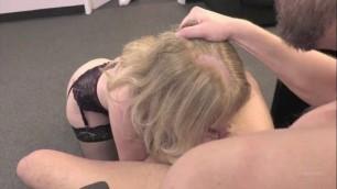 Nina Hartley mature woman in black stockings sit on his cock Hustler
