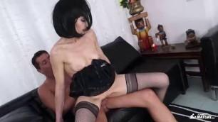 Emma Valente Cum on tits splurge after amateur mature sex session with blue eyed Italian