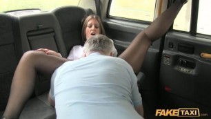 Missy Kink mature Woman on sexy stockings Faketaxi