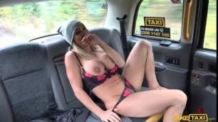 FakeTaxi Mature Blonde busty MILF empties big balls