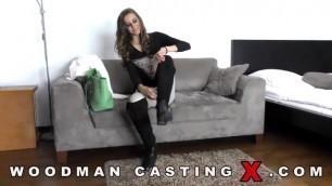 WoodmanCastingX Enolla Calabre Fucks the casting with a Mature partner