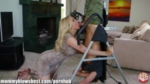 MommyBB Busty MILF Julia Ann is Sucking on my Tied up Boyfriend!