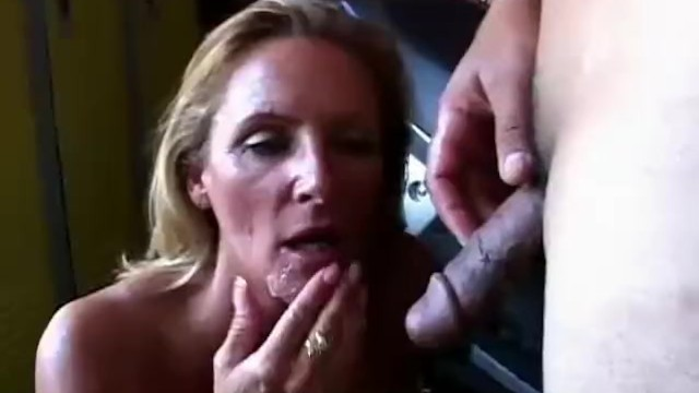 Ginger is a Sexy Blonde MILF who Loves the Taste of Cum