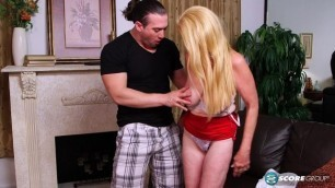 Mature blonde Charlie Charm Young Cock And A Creampie