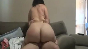 Pawg riding cock and getting fucking booty spanked
