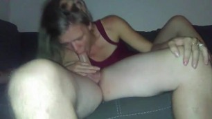 Gagging Blow Job and Face Fucking Becky
