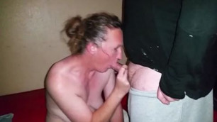 Mature white bitch wife with hubby and interracial bull