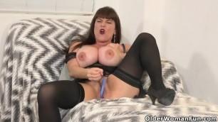 Busty and American MILF Rebecca Love Hides Dildo in Panties