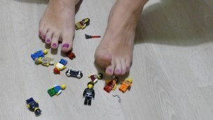 Footfetish Trambling Lego People