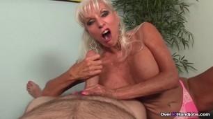 Granny Blowjob CHALLENGE - Granny Torments His Big Cock
