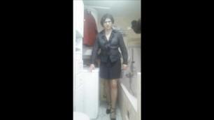 Patty Crossdresser stockings secretary style