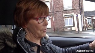 Mature Redhead Martine 70 cougar from Lens JacquieetMichelTV